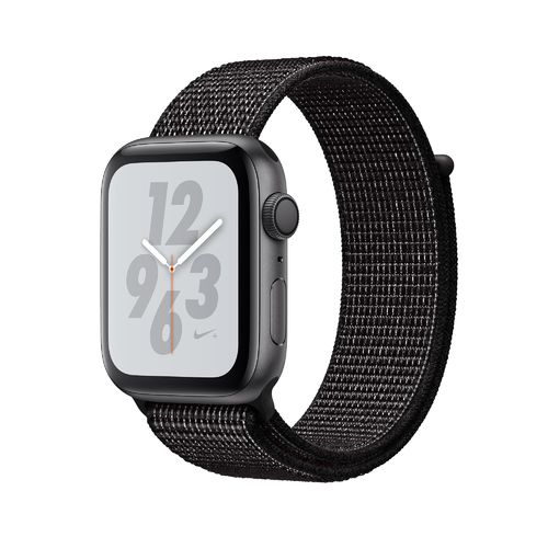 Apple Watch Series 4 Nike 40mm Space Grau, Band Nylon Schwarz